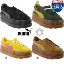 PUMA FENTY Casual Style Suede Blended Fabrics Street Style