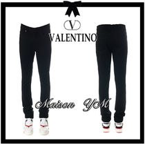 VALENTINO Plain Cotton Jeans & Denim