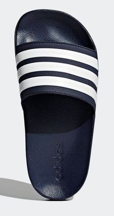 7cebded2ca522 ... adidas Flat Stripes Unisex Street Style Shower Shoes Flat Sandals 8 ...