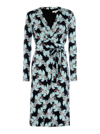 Issa London Dresses Flower Patterns V-Neck Long Sleeves Medium Dresses 6 ... f24ccf7c00f