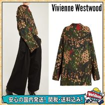 Vivienne Westwood Flower Patterns Camouflage Casual Style High-Neck Oversized