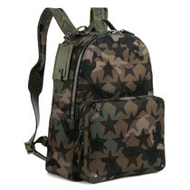 VALENTINO Star Camouflage Studded Backpacks