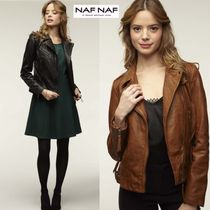 NAF NAF Plain Leather Biker Jackets