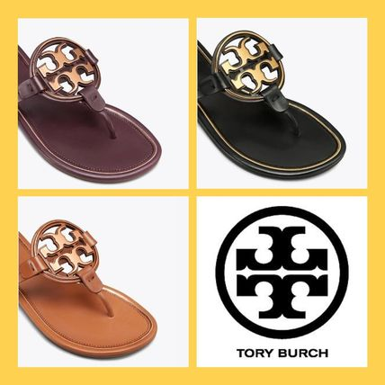 fae10924b Tory Burch 2018-19AW Rubber Sole Leather Sandals by IUM - BUYMA