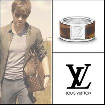 Louis Vuitton Blended Fabrics Silver Rings