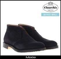 Church's Ryder Plain Toe Suede Plain Chukkas Boots