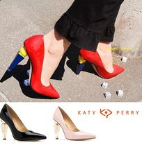 Katy Perry Blended Fabrics Plain Party Style Chunky Heels