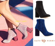 Katy Perry Casual Style Street Style Plain Block Heels High Heel Boots