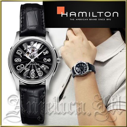 Leather Round Mechanical Watch Analog Watches