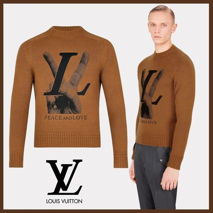 Louis Vuitton 2018 19aw Crew Neck Pullovers Cashmere Long Sleeves