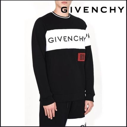 GIVENCHY Sweatshirts Crew Neck Long Sleeves Cotton Sweatshirts