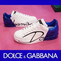 Dolce & Gabbana Monogram Street Style Leather Sneakers