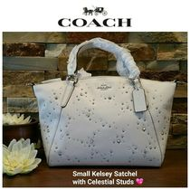 Coach Star Studded Collaboration 2WAY Leather Elegant Style