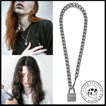 Street Style Chain Plain Handmade Silver Necklaces & Chokers