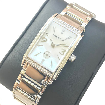 Square Jewelry Watches Stainless Elegant Style