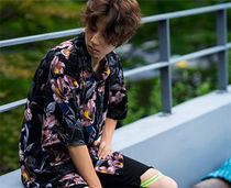 Tropical Patterns Unisex Street Style Short Sleeves
