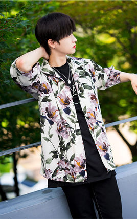 Shirts Tropical Patterns Unisex Street Style Short Sleeves 11