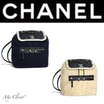 CHANEL ICON Other Check Patterns Casual Style Nylon Blended Fabrics