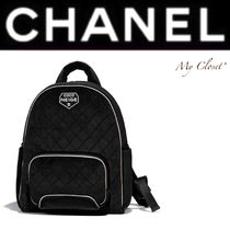 CHANEL ICON Other Check Patterns Casual Style Unisex Street Style A4