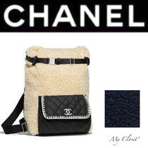 CHANEL ICON Other Check Patterns Casual Style Blended Fabrics