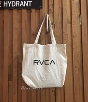 RVCA Casual Style Unisex Cambus Street Style A4 Plain Shoppers