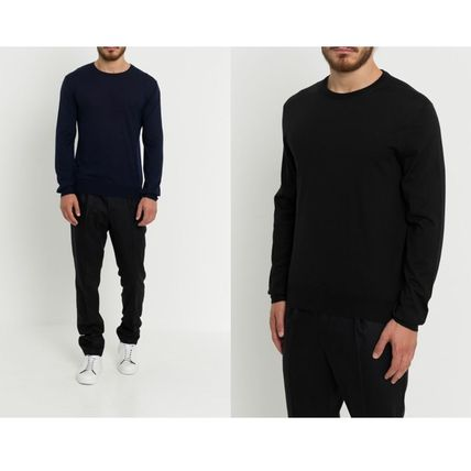 DIOR HOMME Knits & Sweaters Crew Neck Wool Street Style Long Sleeves Plain