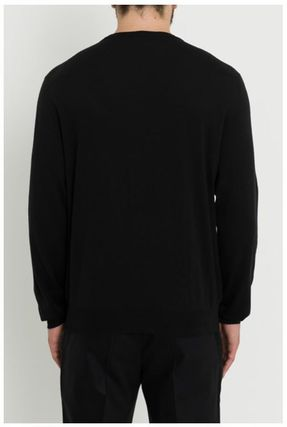DIOR HOMME Knits & Sweaters Crew Neck Wool Street Style Long Sleeves Plain 3