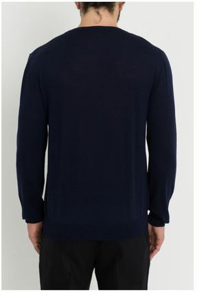 DIOR HOMME Knits & Sweaters Crew Neck Wool Street Style Long Sleeves Plain 7