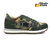Atlantic STARS Camouflage Casual Style Suede Street Style Low-Top Sneakers