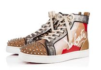 Christian Louboutin Leopard Patterns Street Style Leather Sneakers