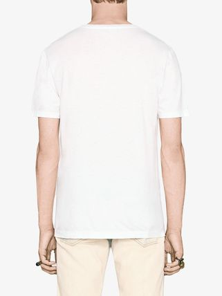 GUCCI More T-Shirts Street Style U-Neck Cotton Short Sleeves T-Shirts 4