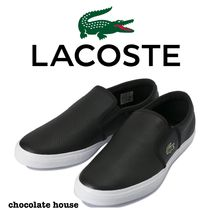 LACOSTE Unisex Plain Other Animal Patterns Leather