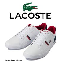 LACOSTE Unisex Faux Fur Plain Other Animal Patterns Sneakers