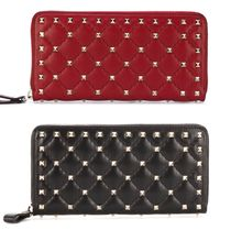 VALENTINO Unisex Studded Leather Long Wallets