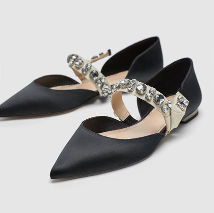 Plain With Jewels Ballet Shoes