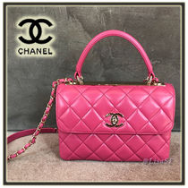 CHANEL MATELASSE Lambskin 3WAY Chain Plain Elegant Style Handbags