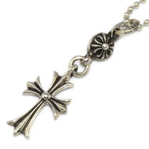 CHROME HEARTS CH CROSS Unisex Street Style Silver Necklaces & Chokers