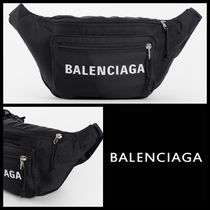 BALENCIAGA Unisex Nylon Street Style Plain Hip Packs