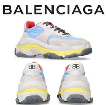 BALENCIAGA Unisex Suede Street Style Oversized Sneakers