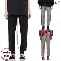 REPRESENT Glen Patterns Wool Street Style Plain Cropped Pants