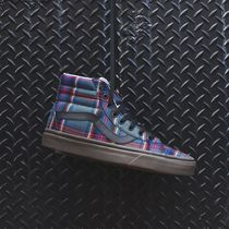 VANS SK8-HI Other Check Patterns Casual Style Unisex Street Style