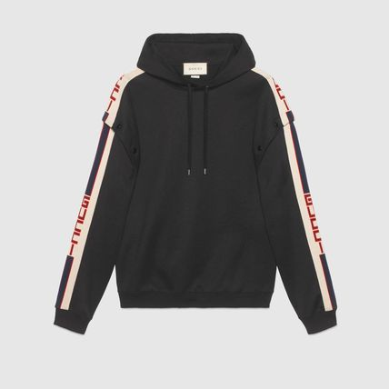 GUCCI Hoodies Pullovers Unisex Street Style Long Sleeves Plain Cotton 2