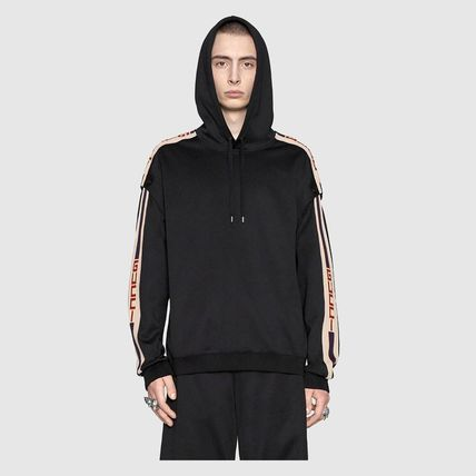 GUCCI Hoodies Pullovers Unisex Street Style Long Sleeves Plain Cotton 4