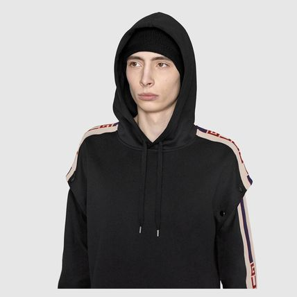 GUCCI Hoodies Pullovers Unisex Street Style Long Sleeves Plain Cotton 6