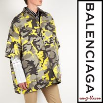 BALENCIAGA Camouflage Short Sleeves Oversized Shirts