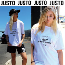 JUSTO Unisex Studded U-Neck Cotton Medium Short Sleeves