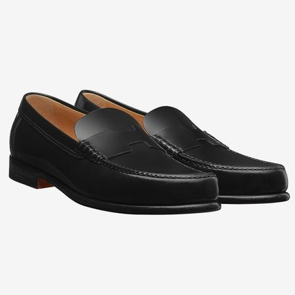 2e8301fcfbf HERMES Loafers   Slip-ons Loafers Plain Leather U Tips Home Party Ideas ...