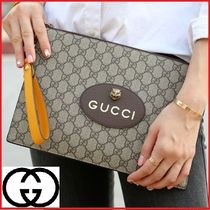 GUCCI Monogram Unisex Canvas Bag in Bag 2WAY Clutches