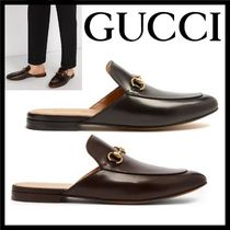 GUCCI Princetown Loafers Plain Leather Loafers & Slip-ons