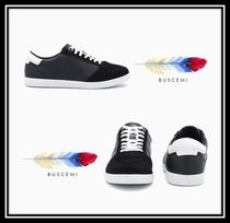 BUSCEMI Blended Fabrics Plain Leather Sneakers